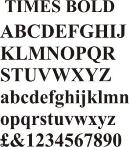 Times Bold Font – MOULDED LETTERS